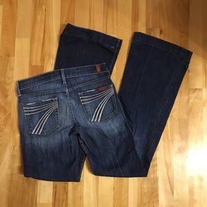 7 FOR ALL MANKIND Dojo jeans size 25 7FAM